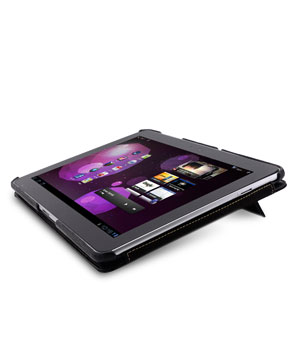 "Кожаный чехол Melkco Leather case for Samsung Galaxy Tab 10.1"" P7500 / P7510 - Jacka Type (Black LC) - with double stand"