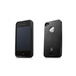 Металлический чехол Capdase Alumor Metal Case for Apple iPhone 4/4S - чёрный