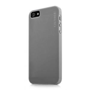 Силиконовый ультратонкий чехол CAPDASE Soft Jacket LAMINA для Apple iPhone 5/5S / iPhone SE - серый