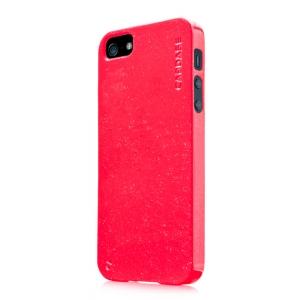 Силиконовый чехол с блестками CAPDASE Soft Jacket SPARKO для Apple iPhone 5/5S / iPhone SE - красный