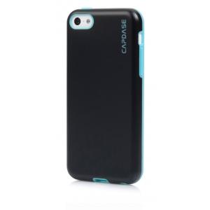 Силиконовый чехол Capdase SJ Vika для Apple iPhone 5C - черный с голубым