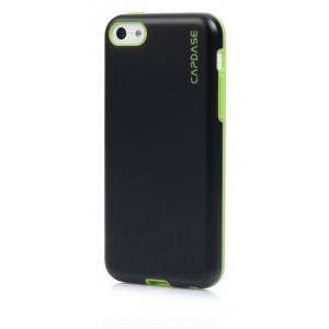 Силиконовый чехол Capdase SJ Vika для Apple iPhone 5C - черный с зеленым