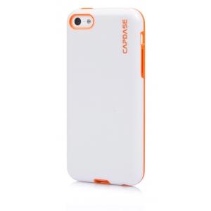 Силиконовый чехол Capdase SJ Vika для Apple iPhone 5C - белый с оранжевым
