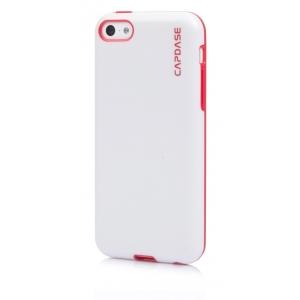 Силиконовый чехол Capdase SJ Vika для Apple iPhone 5C - белый с красным