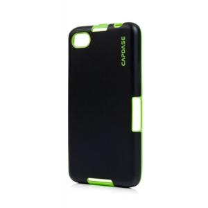 Силиконовый TPU чехол Capdase Soft Jacket Vika для Blackberry Z30 - черно-зеленый