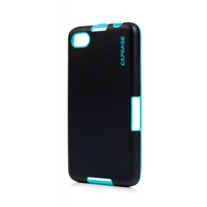 Силиконовый TPU чехол Capdase Soft Jacket Vika для Blackberry Z30 - черно-голубой