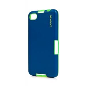 Силиконовый TPU чехол Capdase Soft Jacket Vika для Blackberry Z30 - сине-зеленый