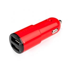 Автомобильное зарядное устройство Capdase Dual USB Car Charger Ampo T2 для iPhone, iPod & iPad - цвет красный
