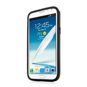 Металлический чехол CAPDASE Alumor Jacket для Samsung Galaxy Note 2 GT-N7100 - чёрный