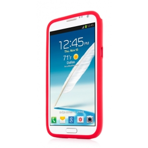 Металлический чехол CAPDASE Alumor Jacket для Samsung Galaxy Note 2 GT-N7100 - красный