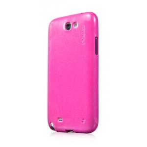 Силиконовый чехол с блёстками CAPDASE SJ SPARKO для Samsung Galaxy Note 2 GT-N7100 - розовый