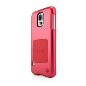 Металлический чехол CAPDASE Alumor Jacket для Samsung Galaxy S5 - красный