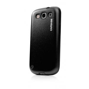 Металлический чехол CAPDASE Alumor Jacket для Samsung Galaxy SIII GT-I9300 - чёрный