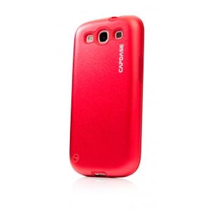 Металлический чехол CAPDASE Alumor Jacket для Samsung Galaxy SIII GT-I9300 - красный