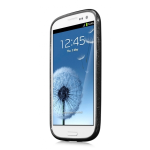 Силиконовый чехол CAPDASE Soft Jacket SPARKO для Samsung Galaxy SIII GT-I9300 - чёрный