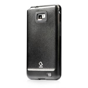 Металлический чехол CAPDASE Alumor Jacket для Samsung I9100 Galaxy S II / Galaxy S2 Plus GT-I9105 - чёрный