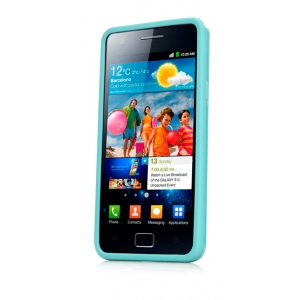 Чехол силикон + пластик Capdase Polimor Jacket для Samsung I9100 Galaxy S II / Galaxy S2 Plus GT-I9105  - голубой