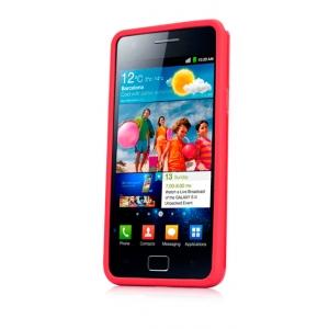 Чехол силикон + пластик Capdase Polimor Jacket для Samsung I9100 Galaxy S II / Galaxy S2 Plus GT-I9105  - красный