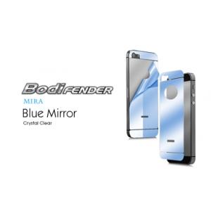 Зеркальная защитная пленка CAPDASE Mira Blue на заднюю часть с голубой тонировкой для Apple iPhone 5/5S / iPhone SE