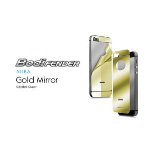 Зеркальная защитная пленка CAPDASE Mira Gold на заднюю часть с золотистой тонировкой для Apple iPhone 5/5S / iPhone SE