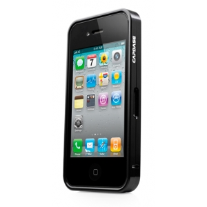 Металлический бампер Capdase Alumor Bumper для Apple iPhone 4/4S - чёрный