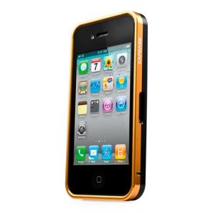 Металлический бампер Capdase Alumor Bumper для Apple iPhone 4/4S - золотисто-чёрный