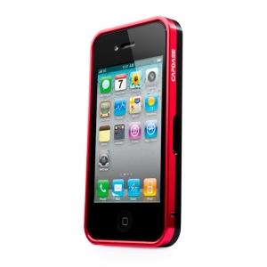 Металлический бампер Capdase Alumor Bumper для Apple iPhone 4/4S - красно-чёрный