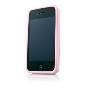 Металлический чехол CAPDASE Alumor Jacket для Apple iPhone 4/4S - розовый