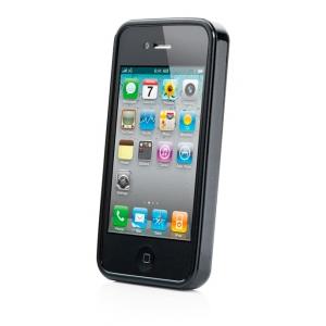 Силиконовый чехол CAPDASE Soft Jacket SPARKO для Apple iPhone 4 / 4S - чёрный
