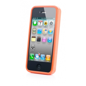 Силиконовый чехол CAPDASE Soft Jacket SPARKO для Apple iPhone 4 / 4S - оранжевый