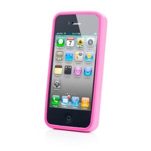 Силиконовый чехол CAPDASE Soft Jacket SPARKO для Apple iPhone 4 / 4S - розовый