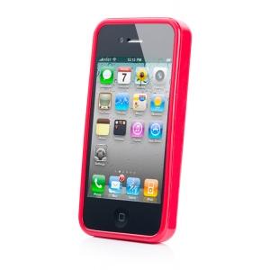 Силиконовый чехол CAPDASE Soft Jacket SPARKO для Apple iPhone 4 / 4S - красный