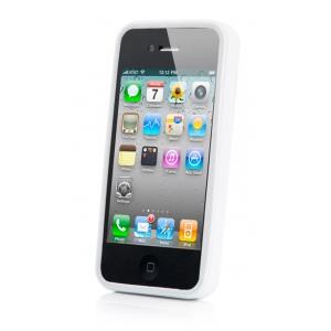Силиконовый чехол CAPDASE Soft Jacket SPARKO для Apple iPhone 4 / 4S - белый
