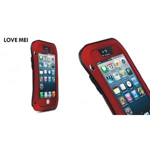 Противоударный, влагозащищенный чехол LOVE MEI POWERFUL small waist для Apple iPhone 5/5S / iPhone SE - красный