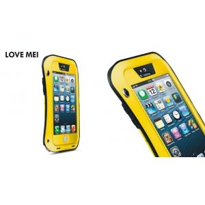Противоударный, влагозащищенный чехол LOVE MEI POWERFUL small waist для Apple iPhone 5/5S / iPhone SE - желтый