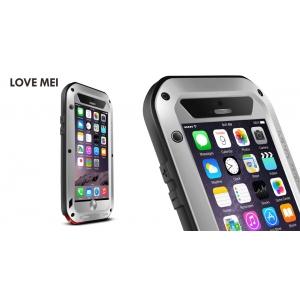 """Противоударный, влагозащищенный чехол LOVE MEI POWERFUL для Apple iPhone 6/6S Plus (5.5"""") - серебристый"""