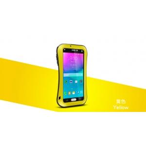 Противоударный, влагозащищенный чехол LOVE MEI POWERFUL small waist для Samsung Galaxy Note 4 - желтый