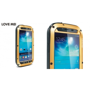 Противоударный, влагозащищенный чехол LOVE MEI POWERFUL для Samsung Galaxy S4 GT-I9500 - золотистый