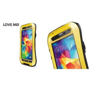 Противоударный, влагозащищенный чехол LOVE MEI POWERFUL Waistline version для Samsung Galaxy S5 - желтый