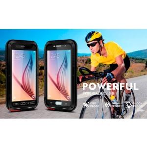 Противоударный, влагозащищенный чехол LOVE MEI POWERFUL для Samsung Galaxy S6 - черный