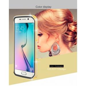 Чехол со стразами LOVE MEI Star Line Case для Galaxy S6 Edge - золотистый