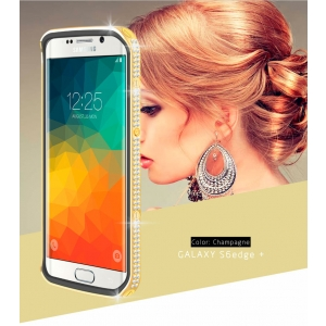 Чехол со стразами LOVE MEI Star Line Case для Galaxy S6 Edge+ - золотистый