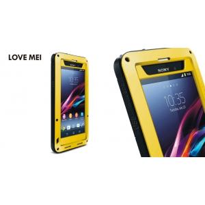 Противоударный, влагозащищенный чехол LOVE MEI POWERFUL для Sony Xperia Z1 / L39t - желтый