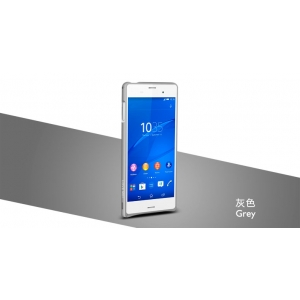 Металлический бампер Love Mei Curved Metal Bumper для Sony Xperia Z3 / D6603 - серый