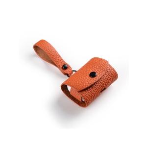Кожаный чехол Melkco Origin Series для наушников Apple AirPods Pro - оранжевый