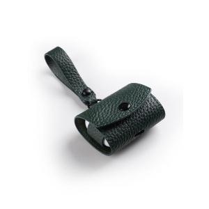 Кожаный чехол Melkco Origin Series для наушников Apple AirPods Pro - темно-зеленый