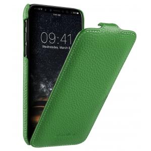 Кожаный чехол флип Melkco для Apple iPhone 11 - Jacka Type - зеленый