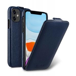 Кожаный чехол флип Melkco для Apple iPhone 11 - Jacka Type - темно-синий