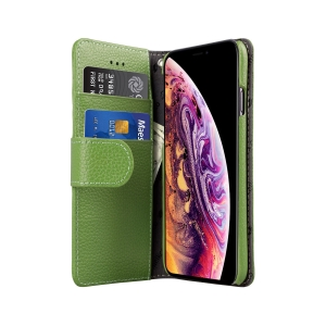 Кожаный чехол книжка Melkco для Apple iPhone 11 Pro Max - Wallet Book Type - зеленый