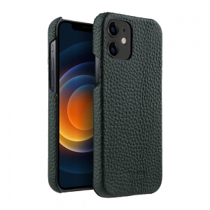 "Кожаный чехол накладка Melkco для Apple iPhone 12 / 12 Pro (6.1"") - Snap Cover - темно-зеленый"
